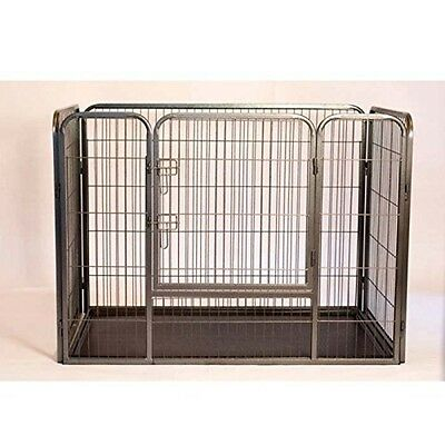 """Heavy Duty Rectangle Tube pen Dog Cat Pet Training Kennel Crate - 28"""" Height NEW"""