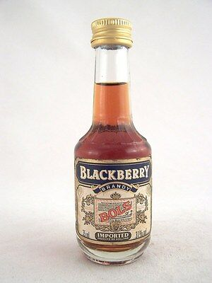 Miniature circa 1985 BOLS BLACKBERRY BRANDY 35ml Isle of Wine