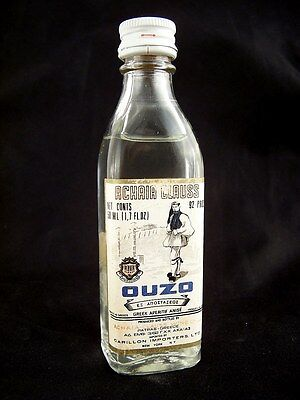 Miniature circa 1974 ACHAIA CLAUSS OUZO Isle of Wine
