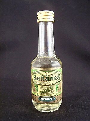 Miniature circa 1985 BOLS CRME DE BANANES 35ml Isle of Wine