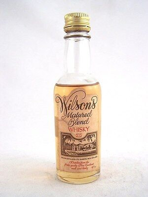 Miniature circa 1976 RARE WILSON'S New Zealand Whisky Isle of Wine