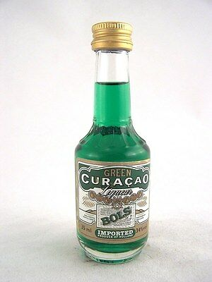 Miniature circa 1985 BOLS GREEN CURACAO 35ml Isle of Wine