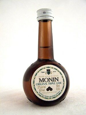 Miniature circa 1979 MONIN ORIGINAL TRIPLE LIME LIQUEUR Isle of Wine