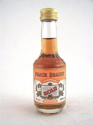 Miniature circa 1985 BOLS PEACH BRANDY 35ml Isle of Wine