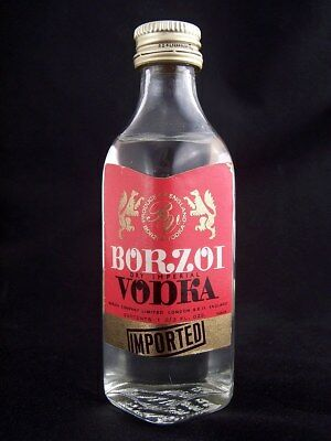 Miniature circa 1970 BORZOI VODKA Isle of Wine