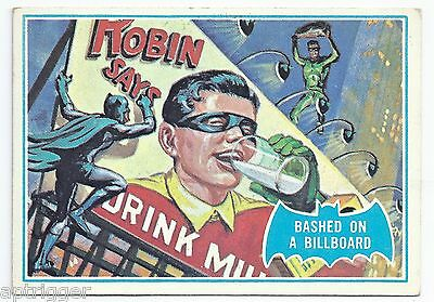 1966 Topps Batman Blue Bat with Bat Cowl Back (9B) Bashed On A Billboard