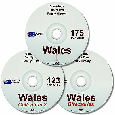 Family History Tree Genealogy Wales Old Historic Books Directories New 3 DVDs