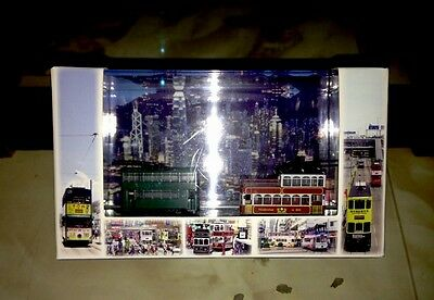 C-7 Excellent Scenery Z-scale Of Tram Model 1:250 Hong Kong Classical Tram Model