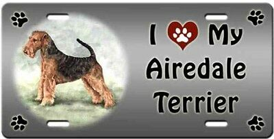 Airedale Terrier License Plate - Love
