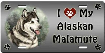 Alaskan Malamute License Plate - Love