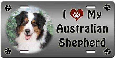 Australian Shepherd License Plate - Love