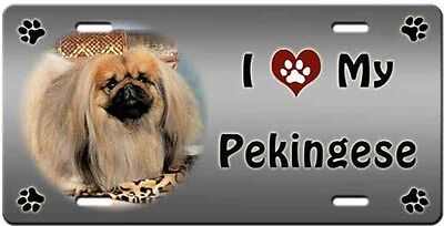 Pekingese License Plate - Love