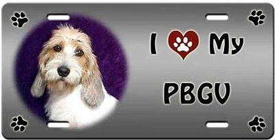 Petit Basset Griffon Vendeen License Plate - Love