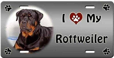 Rottweiler License Plate - Love