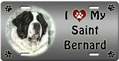 Saint Bernard License Plate - Love