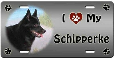 Schipperke License Plate - Love