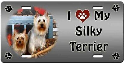 Silky Terrier License Plate - Love
