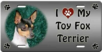 Toy Fox Terrier License Plate - Love