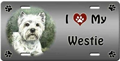 West Highland White Terrier License Plate - Love