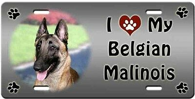 Belgian Malinois License Plate - Love
