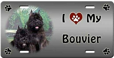 Bouvier des Flandres License Plate - Love