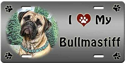 Bullmastiff License Plate - Love