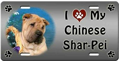 Chinese Shar-Pei License Plate - Love