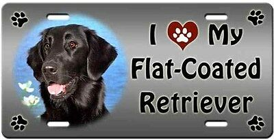 Flat Coated Retriever License Plate - Love