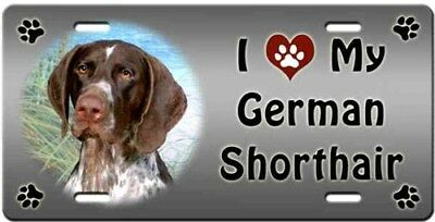 German Shorthaired Pointer License Plate - Love