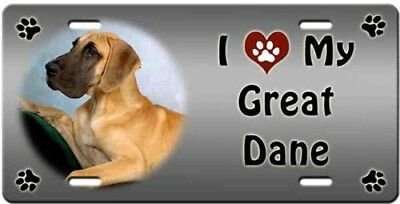 Great Dane License Plate - Love