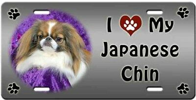 Japanese Chin License Plate - Love