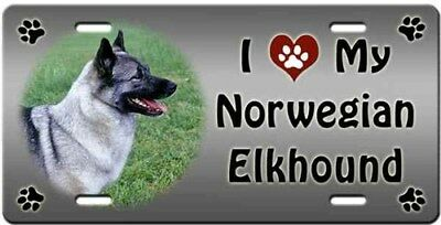 Norwegian Elkhound License Plate - Love