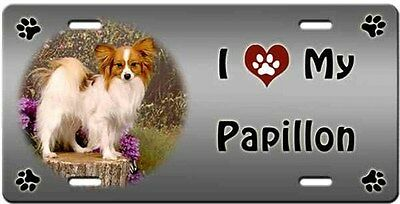 Papillon License Plate - Love