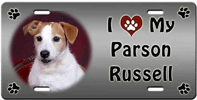 Parson Russell License Plate - Love
