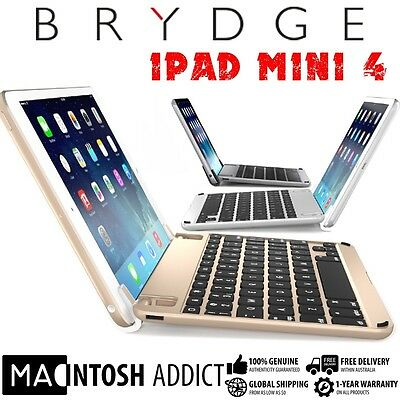 BrydgeMini II Aluminium Backlit Keyboard Cover For iPad Mini 4 | Stereo Speakers