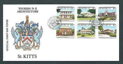St Kitts 1989 FDC. Architecture