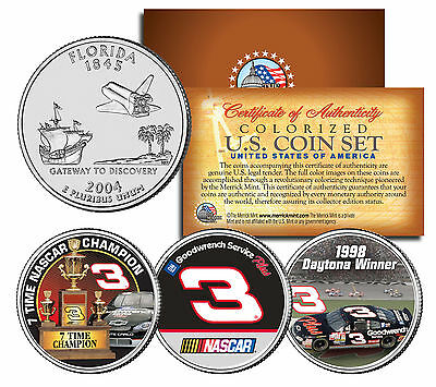 Racing-nascar Sports Mem, Cards & Fan Shop United Dale Earnhardt 7x Nascar Winston Cup Champion Pure Pewter Keychain