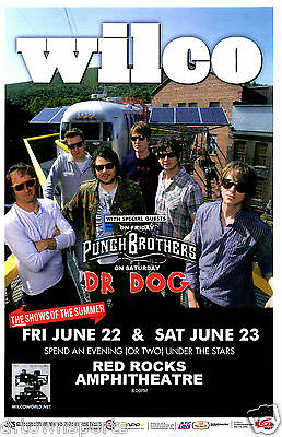 WILCO 2012 Red Rocks 11x17 Show Flyer / Gig Poster w/ Punch Brothers & Dr. Dog