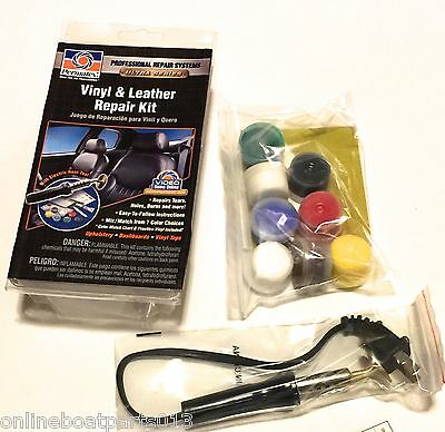 Upholstery Vinyl & Leather Complete Repair Kit, Dries Clear, Boat/automotive