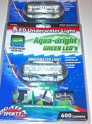 Green Underwater Led Boat Light 2 Included 3.5X1.5 600 Lumens, 51090