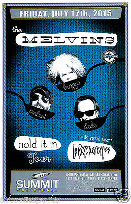 The MELVINS Hold It In Tour 2015 - Summit - Denver 11x17 Show Flyer / Gig Poster