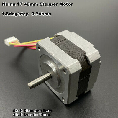 Stepper motor Nema17 shaft 5mm pulley for RepRap CNC Prusa Rostock 3D printer