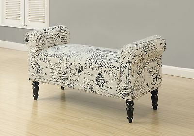 Monarch Bench-44Inchl/Traditional Style Vintage French Fabric-I-8915