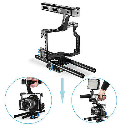 Neewer Film Making Camera Video Cage with 15mm Rod System Rig for Sony ND#17