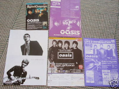 Rare OASIS Japan flyers cuttings poster SONY Stop the Clocks Noel Liam Gallagher