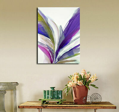 Abstract Pattern Stretched Canvas Print Framed Wall Art Home Decor Gift Purple