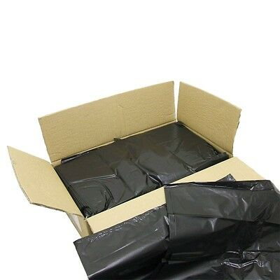 Black Extra Heavy Duty Refuse Bags Sacks Bin Liners Rubbish Bag / 140G Quality