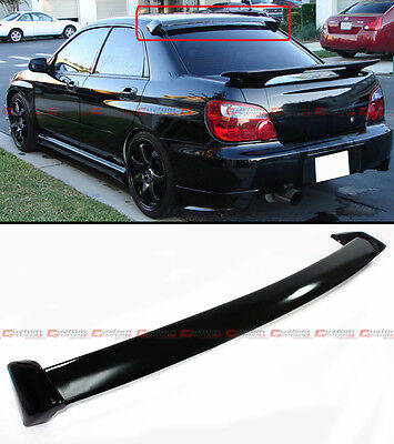 FOR 2002-07 SUBARU IMPREZA WRX BLK STi STYLE JDM REAR ROOF WINDOW SPOILER WING