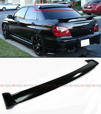 FOR 2002-07 SUBARU IMPREZA WRX MATT BLK STi STYLE REAR ROOF WINDOW SPOILER WING
