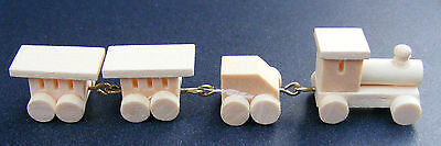 1:12th Scale Natural Finish Wooden Toy Train Dolls House Miniature Accessory